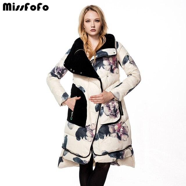 C.L.J 2016 новая модель женских зимних пуховиков с капюшоном парка средней длины утепленная куртка облигающий фасон по фигуре куртка сшитая по европейской моде больших размеров известной марки верхняя одежда