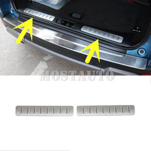For Land Rover Range Evoque Inside Rear Bumper Protector Sill Plate 2012-2016 2pcs