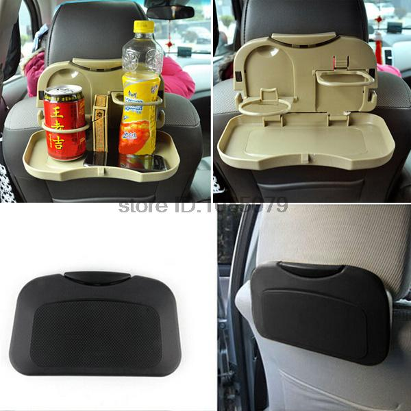 Accessories Auto Car Back Seat Folding Table Drink Food Cup Tray