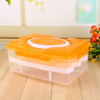 24 Grid Egg Containers Storage Box Retail Two Layers Basket Food Organizer Home Kitchen Gadgets Supplies