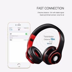 Image 5 - AYVVPII ที่ดีที่สุดหูฟังไร้สายสเตอริโอหูฟังบลูทูธในตัว Mic Soft Earmuffs กีฬาชุดหูฟังสำหรับ ios และ Android
