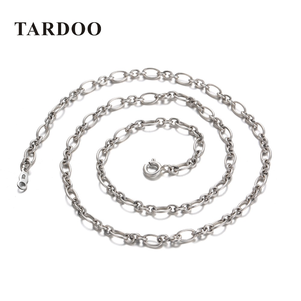 Tardoo Original 925 Sterling Silver Necklaces for Women Minimalist Exquisite Charming Chain Necklaces Brand Fine Jewelry a suit of chic chain necklaces for women