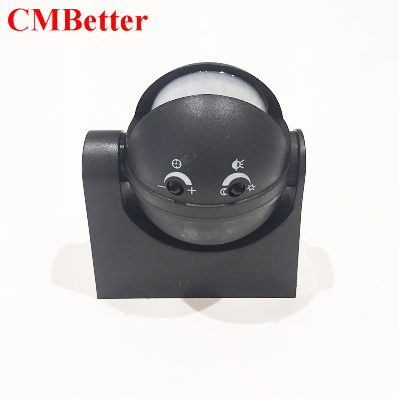 CMBetter Outdoor 180 Degree Rotary Waterproof Home Security Automatic LED PIR Motion Sensor Detector Switch 110V/AC-240V/AC 660v ui 10a ith 8 terminals rotary cam universal changeover combination switch
