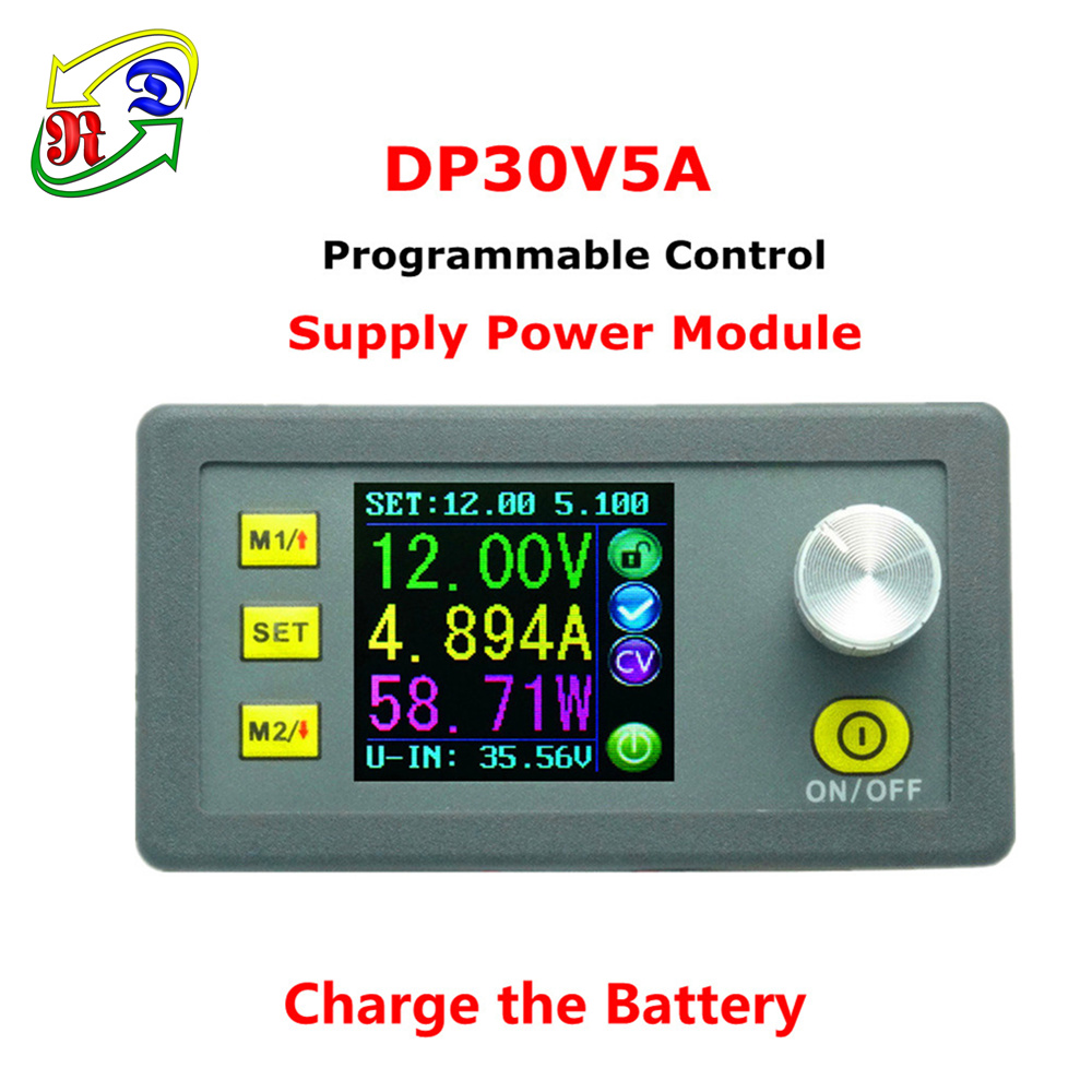 RD DP30V5A Constant Voltage current Step-down Programmable Power Supply module buck Voltage converter regulator color LCD