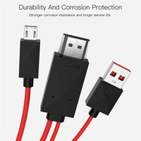 s5 s4 s3 note Micro usb HDMI Adapter 11Pin male to HDMI USB male 1080P TV Converter Cable for Samsung Galaxy S3 S4 S5 Edge Note 3 (5)