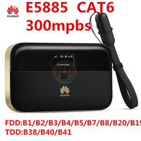 Unlocked Huawei Cat6 E5885 300mbps 4g Router 4g Mifi Pocket Router Rj45 Ethernet 6400mAh E5885Ls 93a