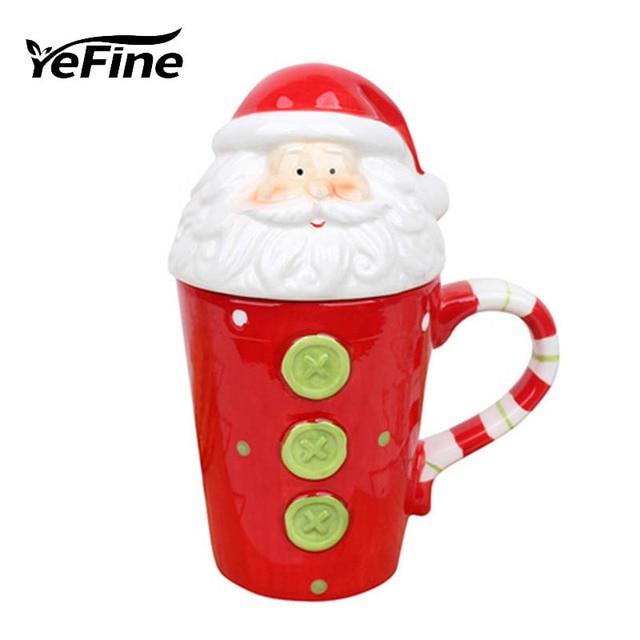 yefine advanced christmas gift ceramic mugs coffee large capacity