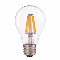 8W 2200K A19 Globe LED Filament Bulb Decorative Lighting For Home E26 Base 100V For Japan