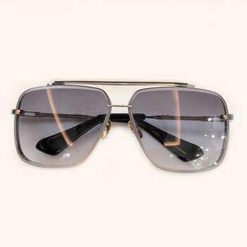 Alloy Frame Men Square Sunglasses 2019 New Brand Gold Sun Glasses Gradient Lens Men Overszie Glasses UV400 Shades