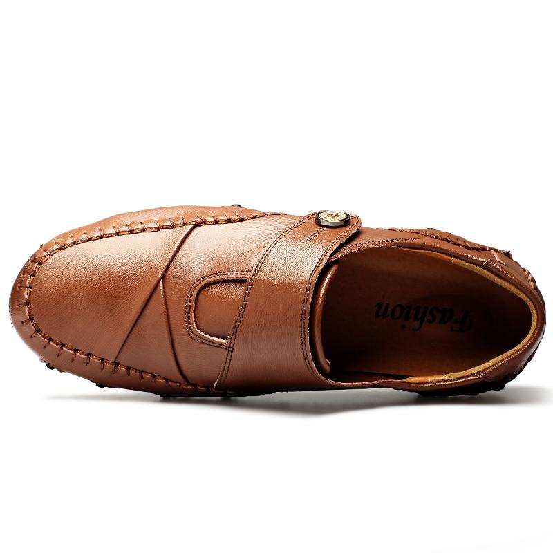 Moda británica de estilo genuino Causal zapatos de los hombres de - Zapatos de hombre - foto 4