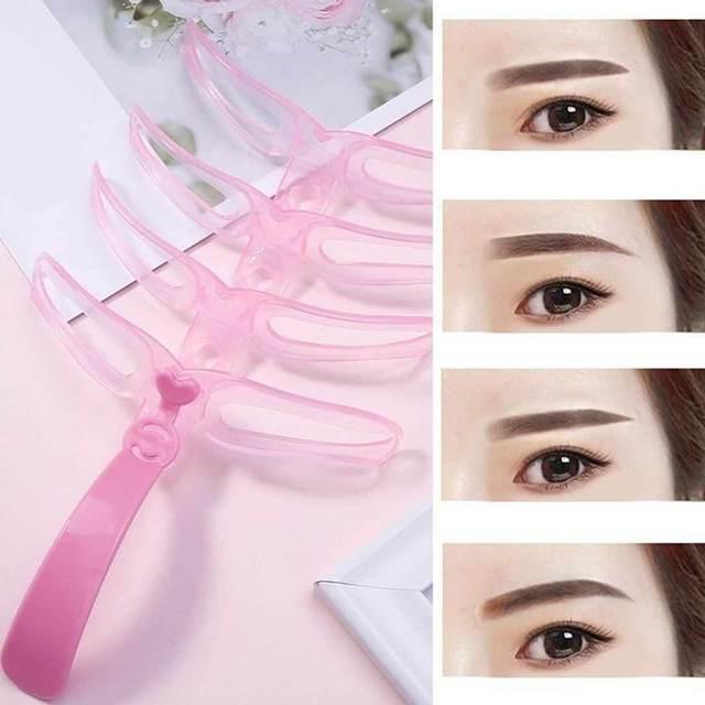 4pcs / set Reusable Eyebrows Shaping grooming and grooming Eye Brow Make Up Template Template Drawing Eyebrows Styling Tool 5