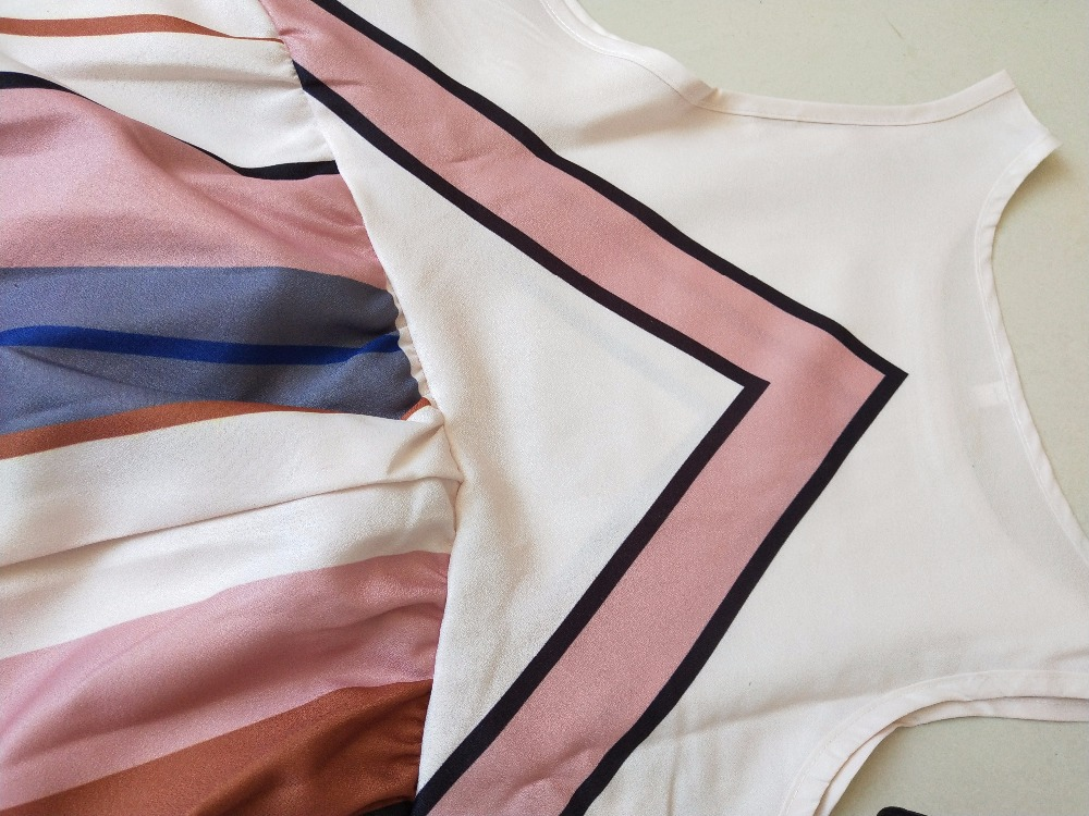 2018 Hot Sale Brand New Women Summer Dress Plus Size O Neck Sleeveless Long Dress Boho Beach Print Stripe A Line Dresses Vestido 4