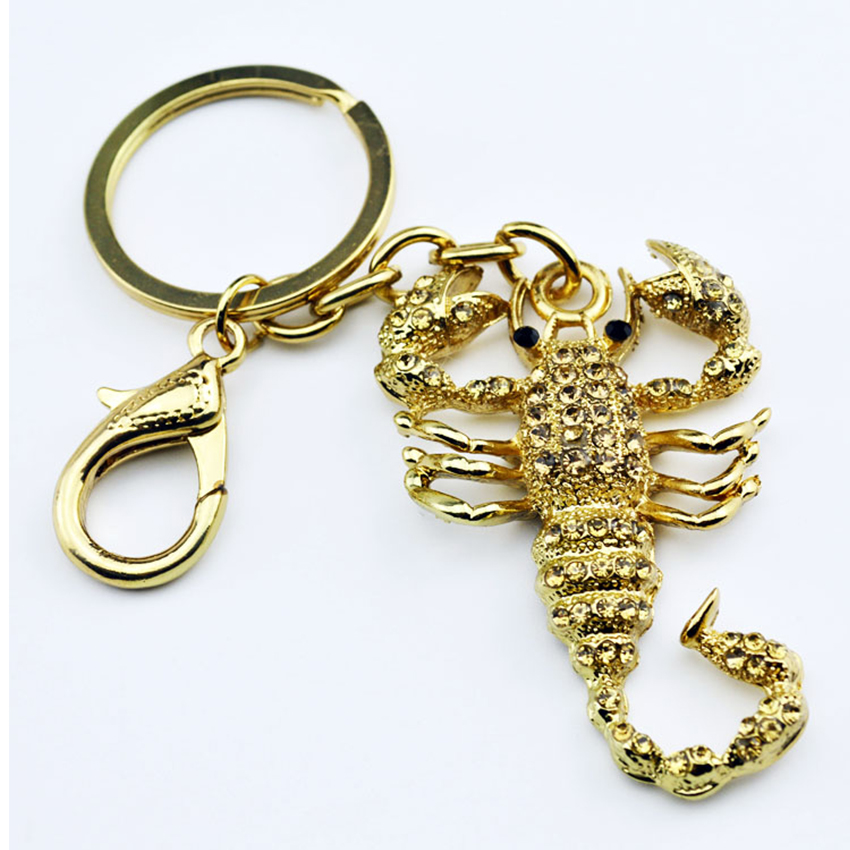 Fashion Scorpion Metal Pendant Crystal Charm Purse Car Keyring Luxury - Fashion Jewelry - Photo 1