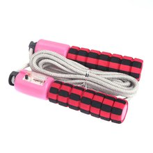 Automatic Jump Counter Adjustable Rope Jumping Exercise Fitness Training Gym Sports Sponge Handle skipping ropes for fitness