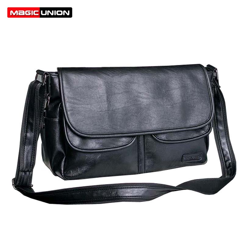 MAGIC UNION Men Leather Shoulder Bag Envelope Style Bag Waterproof Messenger Bags High Quality Men's Leather Handbags Travel Bag