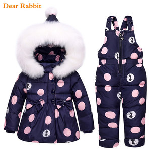 Image 2 - 2020 new Winter children clothing sets girls Warm parka down jacket for baby girl clothes childrens coat snow wear kids suit