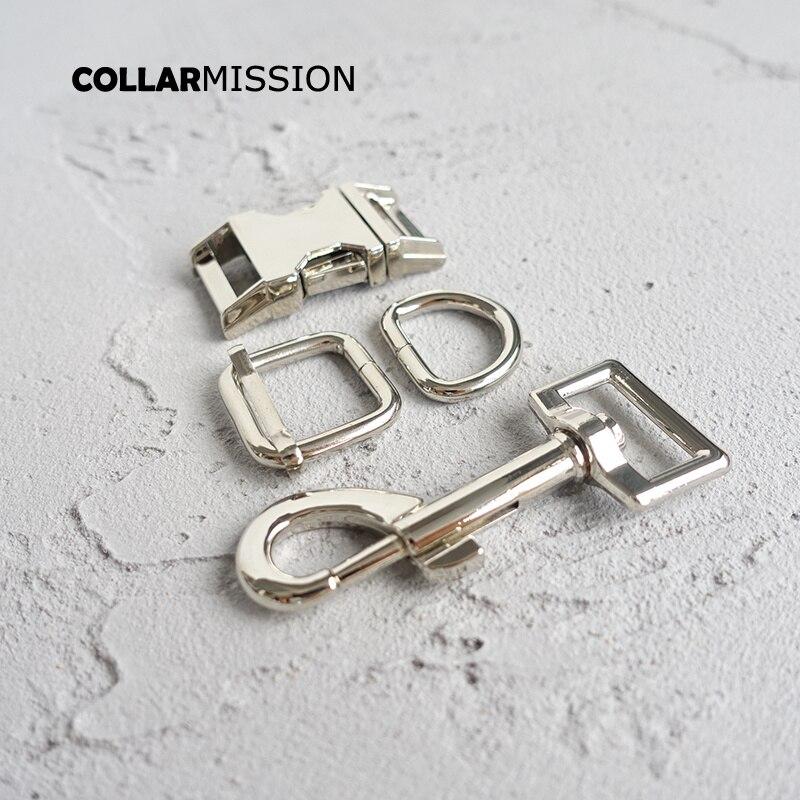 20sets lot metal buckle adjust buckle D ring metal dog clasp set DIY dog collar 20mm