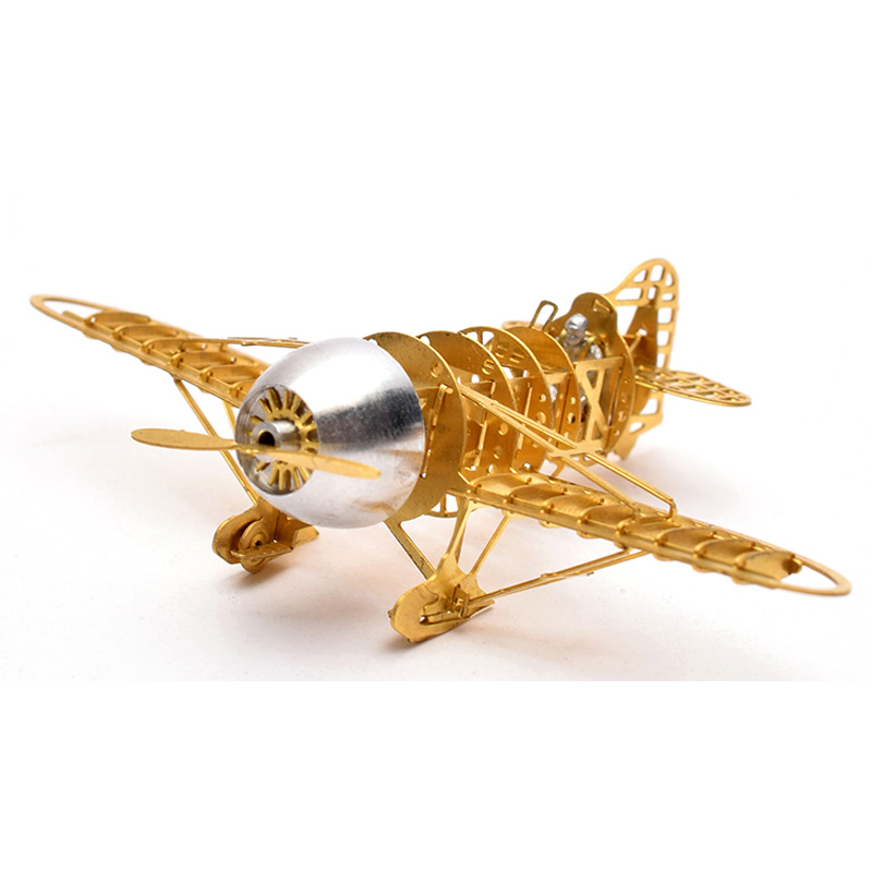 3D Metal Puzzle GeeBee Racer R 2 Airplane B16006 DIY 3D Laser Cut Assemble Models Toys For Audit