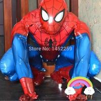 Xxpwj送料無料アルミ風船のおもちゃウォーキングスパイダーマン誕生日パーティー風船卸売輸