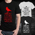 Nuevo Hombre del Reloj de Noche Camisetas de Los Hombres de Cuello Redondo Corto Estilo de Juego de Tronos Camiseta Vintage Boy Verano de manga camisetas