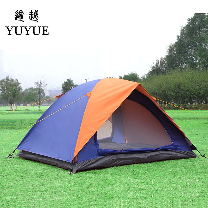 2 person UV protection camping tents for cleary day hiking tent for winter fishing double layer outdoor ultralight tent   1