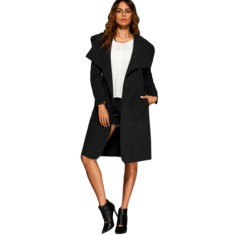 Online Get Cheap Black Wool Trench Coat Women -Aliexpress.com ...