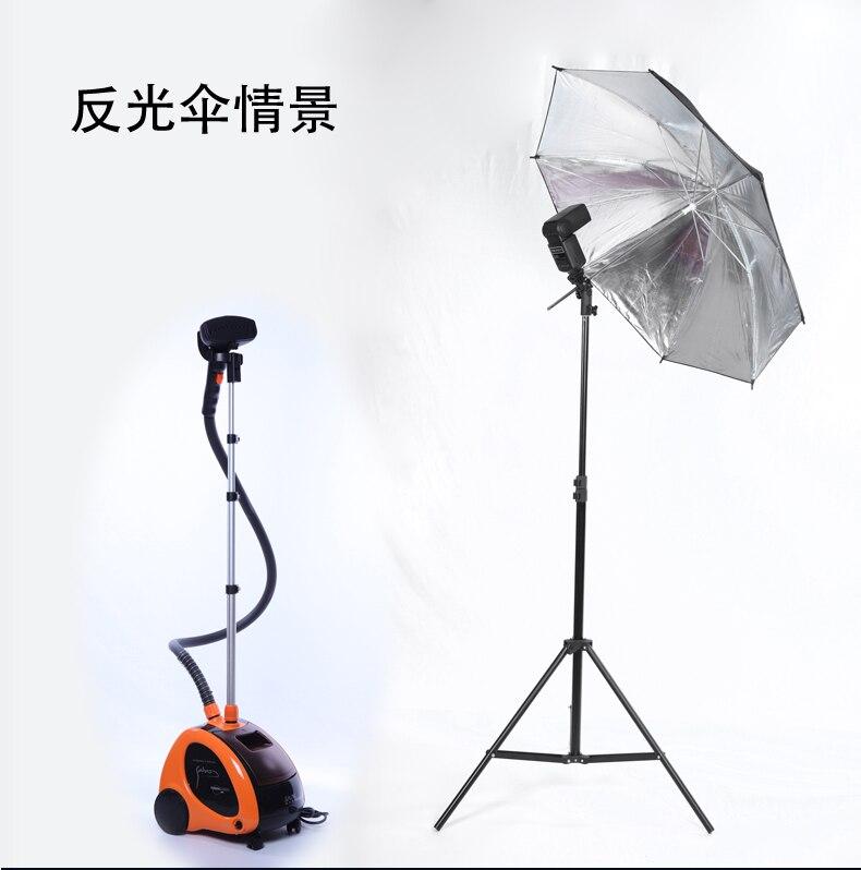 Off caméra flash titulaire, réflecteur parapluie, parapluie doux ensemble, métal E type support de lampe matériel photographique, photographyCD15