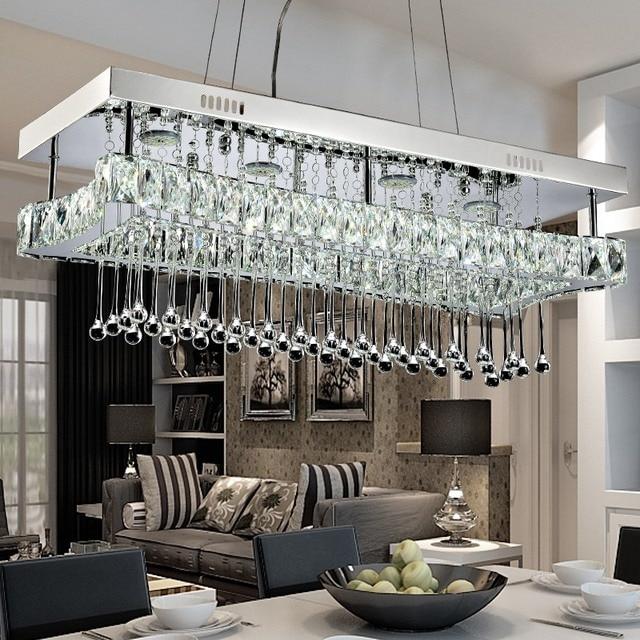 Modernes Design Hangeleuchte Rechteck Regen Tropfen Leuchte Kristall