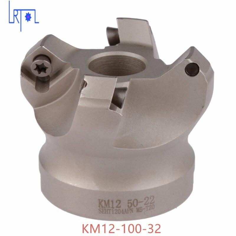 6flute KM12-100-32 45 степень плеча Мельница Ножевая головка для SEHT1204