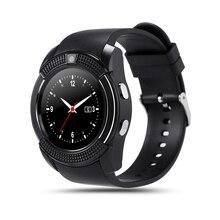V8 Smart Uhr Round MTK6261D Smartwatch mit Kamera SIM TFCard Smart Health Monitor anti-verlorene Für iOS Android