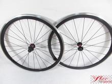 Farsports FSC38-CA-23 DT240(36 Ratchets) carbon aluminium wheels clincher for 700c, 38 deep bike clincher wheels Alloy braking