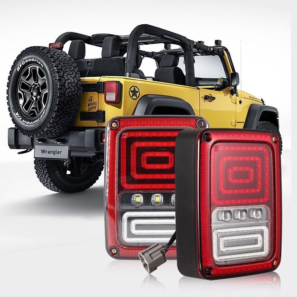 LED Integrated Taillight For Jeep Wrangler JK 2007 2016 Snake Style Brake Light Reverse Rear Lights