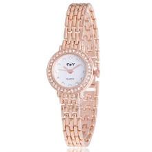 Fashion Women's Watch Minimalism Rhinestone Golden Stainless Steel Wrist Watch relogio feminino dropshopping free shipping #50