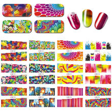 12ピース/ロット (12デザイン) 蝶/魚/フラワーネイルアートステッカーポリッシュuvジェルステッカー爪のヒントデコレーションdiyステッカー