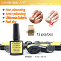 #40601 CANNI Nail Art Gel Topcoat  Gel Polish Use No Wipe No Alcohol Non Cleansing Top Coat