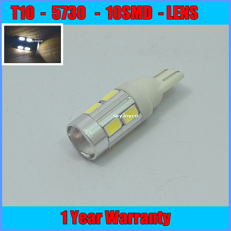 ФОТО 2X T10 168 194 for SAMSUNG 5730 Emitter High Power LED Projector Turn Tail Signal DRL Light Bulbs White LED reading lamp bulb