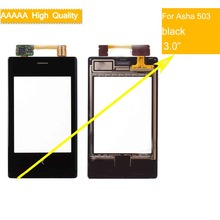 For Nokia Asha 503 N503 5030 N5030 Touch Screen Touch Panel Sensor Digitizer Front Glass Outer Lens Touchscreen NO LCD black nokia asha 205