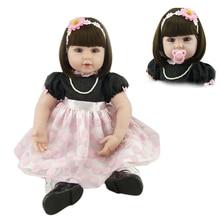 55cm 22 Silicone bebe Reborn Baby Boy Dolls Soft Body Sleeping Doll Realistic Toys Playmate Juguetes Kids Toys Brinquedos цена