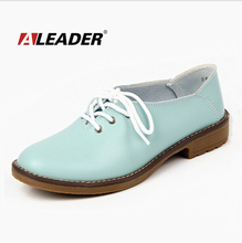 Genuine Leather Oxford Shoes Women Flats 2015 Fashion Women Shoes Casual Moccasins Loafers Ladies Shoes sapatilhas zapatos mujer