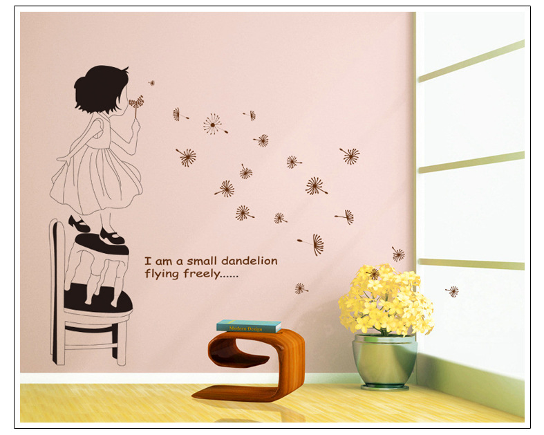 flower princess love home decor wall sticker diy kitchen bathroom