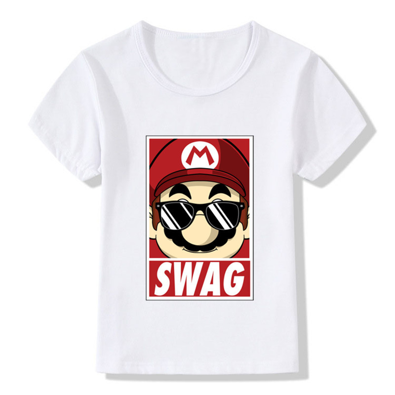 Summer Baby Girls And Boys T Shirts White Short Sleeve Swag Painting Baby T Shirt For Kid Girl Casual Tshirt Children Tops Tees