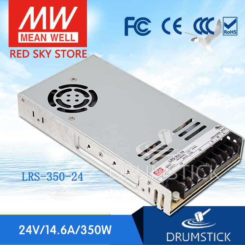 (Only 11.11)MEAN WELL LRS-350-24 (2Pcs) 24V 14.6A meanwell LRS-350 350.4W Single Output Switching Power Supply 12 12 mean well erp 350 24 24v 14 6a meanwell erp 350 24v 350 4w single output switching power supply