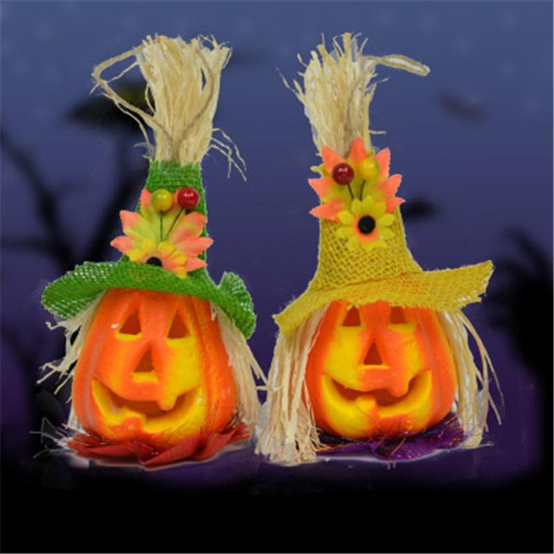 scarecrow led pumpkin light for halloween decoration props horror hanging lantern lamp halloween props outdoor party supplies - Outdoor Party Supplies