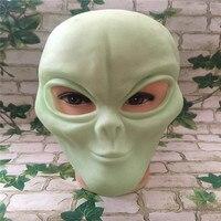 Nieuwe Halloween Pasen Terreur Masker Vinyl Scary Realistische UFO Alien Head Volledige Gezicht Horror Masker Voor Halloween Party Cosplay Kostuum