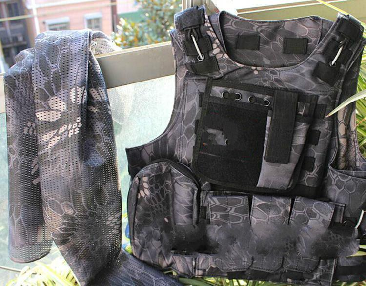 все цены на Military Outdoor Mango Camouflage Tactical Men 's Camouflage Molle Tactical Vest Stab - proof Vest онлайн