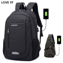 2018 new casual anti-theft password backpack Fashion Boy Girl School Backpack Waterproof USB Charging Travel mochila school bag