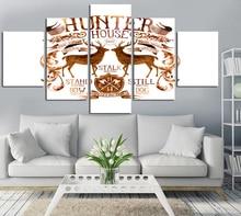цена Fashion modern 5 pcs two animal poster canvas oil painting effect module household adornment art gift free shipping FA222 онлайн в 2017 году