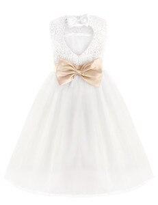 Image 3 - 2020 Brand New Flower Girl Dresses White/Ivory Real Party Pageant Communion Dress Little Girls Kids/Children Dress for Wedding