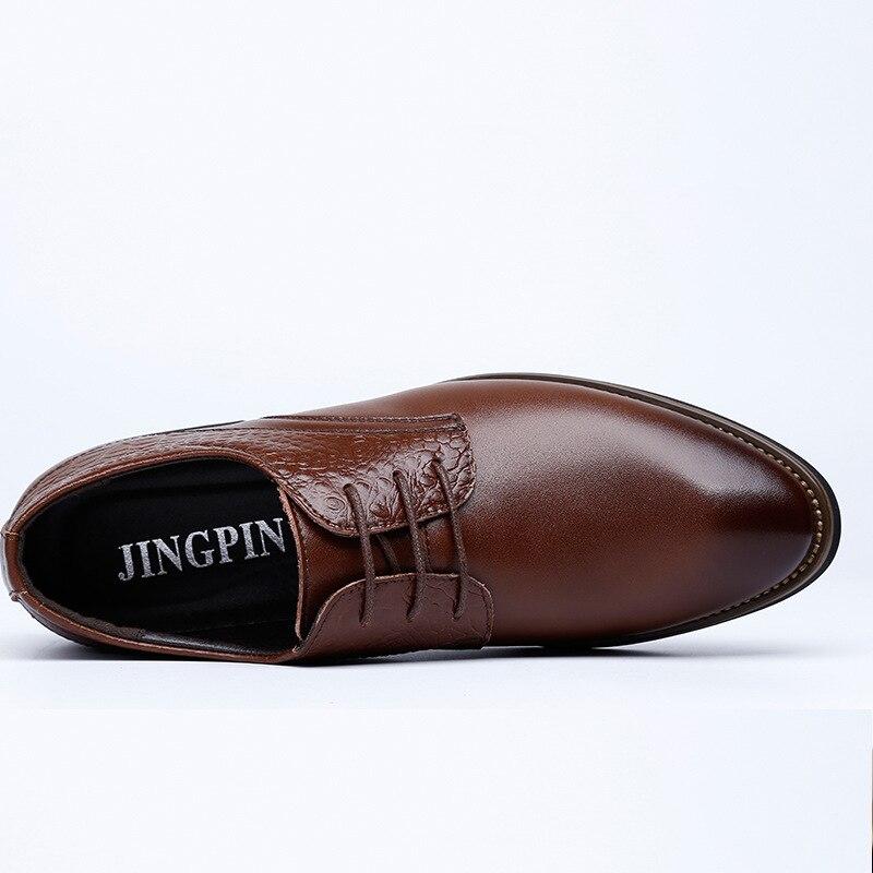 Caoutchouc Rond Oxford D'été En Légers Noir Hommes Style Angleterre Bout Chaussures marron Noir Mâle Cuir Robe Formelle Fqx1Cw8