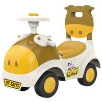 2016 Most Popular 4 Wheel Baby Walker Cartoon Calf Go Cart Walker Baby Walker Cars With